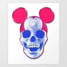 Mickey Mouse Skullface (aka Norman Bates' Dad) Art Print