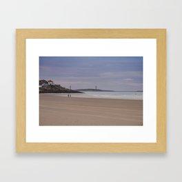 Twin Lights at Good Harbor beach Framed Art Print