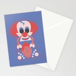 Clown Martians  from Outer Space Stationery Cards