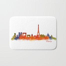 Paris City Skyline Hq v2 Bath Mat