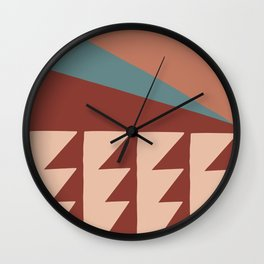 Lightning Bolts in Dusty Pink Fall Colors Wall Clock