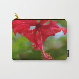 Scarlet Flower Carry-All Pouch