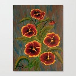 Pansies-2 Canvas Print