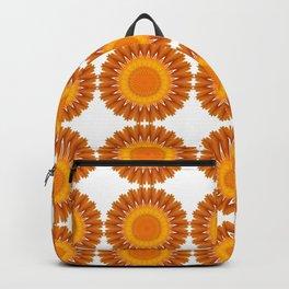 Marigold abstracted to a mandala Backpack