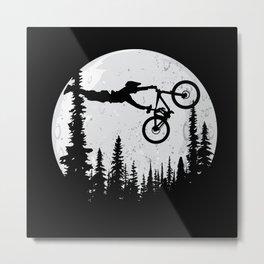 MTB Moon Metal Print