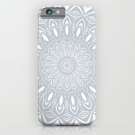 Cool Gray Mandala Simplistic Bold Minimal Minimalistic iPhone Case