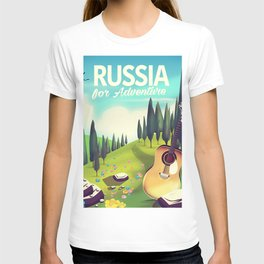"""Russia """"For adventure"""" Travel poster. T-shirt"""