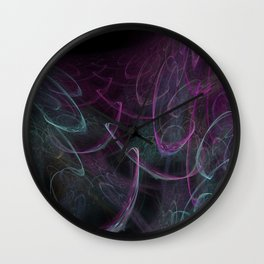 Christmas blizzard. Abstract Wall Clock