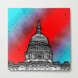 United States Capitol Building Metal Print