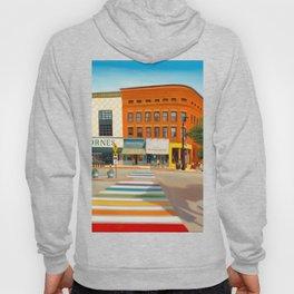 Downtown Northampton, MA Art Print Hoody
