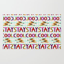 Stay cool pattern Rug