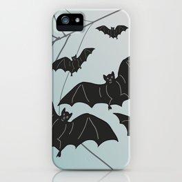 Bats & Monsters Halloween Spider Web iPhone Case