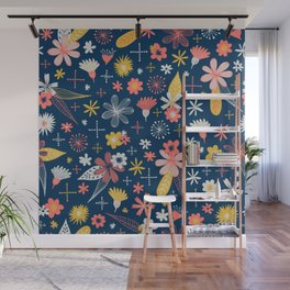 funky little floral pattern Wall Mural