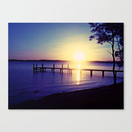 Sunset By The Warf Canvas Print