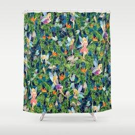 Emerald Fairy Forest Shower Curtain