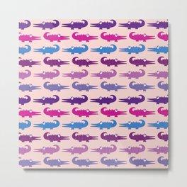 Later Alligator - Pink Metal Print