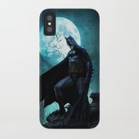 bat man iPhone & iPod Cases featuring BAT man by Electra