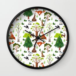 Forest Life Wall Clock