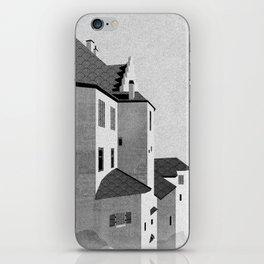 Castle in the Sky | Black & White iPhone Skin