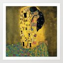 Curly version of The Kiss by Klimt by tallncurly