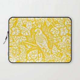 Gen Z Yellow Parakeet Lino Cut Laptop Sleeve