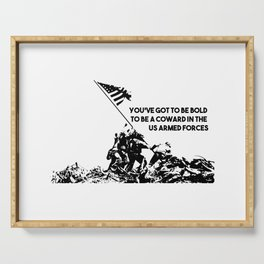Raising Flag on Iwo Jima US Armed Forces Serving Tray