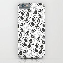 penguin print iPhone Case