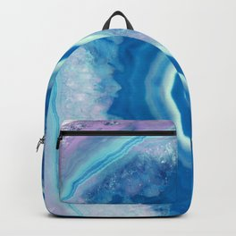 Teal and violet agate Backpack