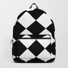 Diamond (Black & White Pattern) Backpack