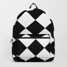 Rhombuses (Black & White Pattern) Backpack