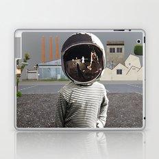 Space Kid in illusion City Laptop & iPad Skin