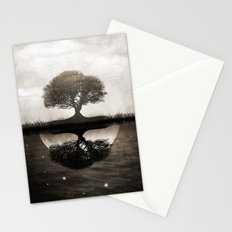 The lone Night reflex Stationery Cards