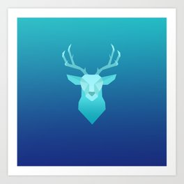 Deep Blue Art Print