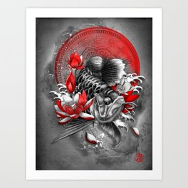 Arowana Dragon Fish Art Print