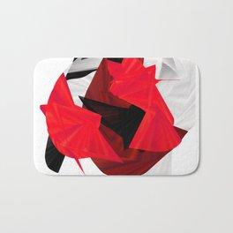 red black white silver abstract digital art Bath Mat