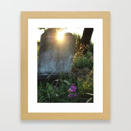 Looper's Cemetery 4 Framed Art Print