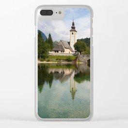 Church next to lake Bohinj Clear iPhone Case