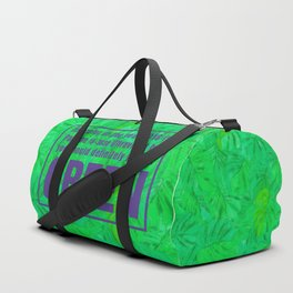 Green and Ultra Violet Duffle Bag
