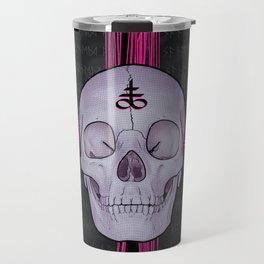 Pink Madness Skull and Cross Travel Mug