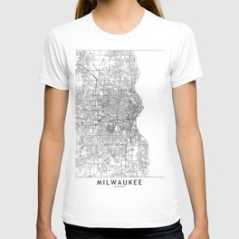 Milwaukee White Map T-shirt