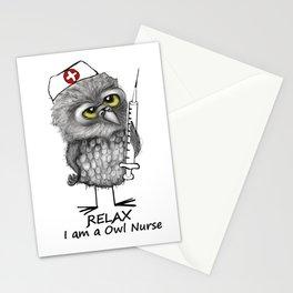 Owl Nurse Stationery Cards