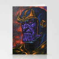 thanos Stationery Cards featuring Marvel Thanos Infinity Gauntlet by Adam Worley