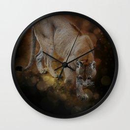 A Mountain lion's decent Wall Clock