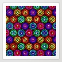 Colour Circles Art Print