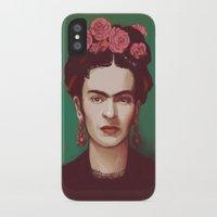 frida iPhone & iPod Cases featuring Frida by ravynka
