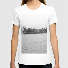 River Islands Grey Sacale Tropical Landscape, India T-shirt