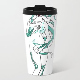 Virgo / 12 Signs of the Zodiac Metal Travel Mug