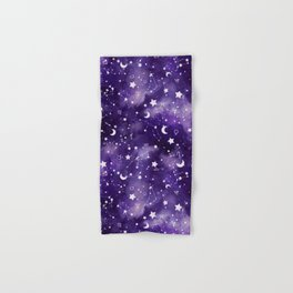 Zodiac Watercolor Ultraviolet Hand & Bath Towel
