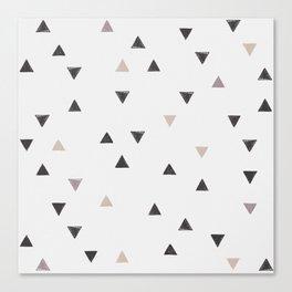 DOWN UP / scandi white / warm grey / flax / lavender Canvas Print