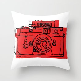 Click Click Red Throw Pillow